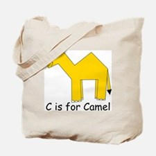 C is for Camel Tote Bag