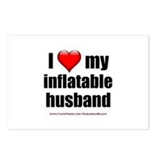 """Love My Inflatable Husband"" Postcards (Package of"