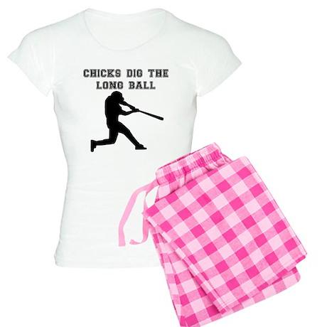 Chicks Dig The Long Ball pajamas