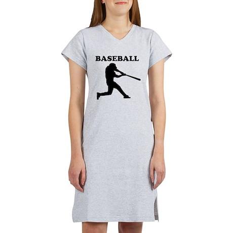 Baseball Batter Women's Nightshirt