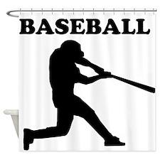 Baseball Batter Shower Curtain