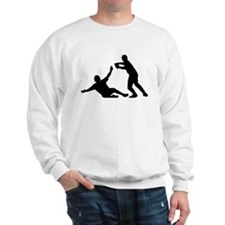 Baseball Double Play Silhouette Jumper