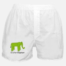 E is for Elephant Boxer Shorts