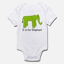 E is for Elephant Infant Bodysuit
