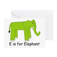E is for Elephant Greeting Cards (Pk of 10)