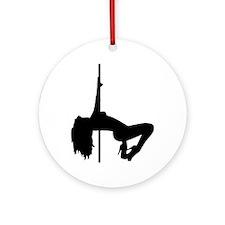 Striptease pole girl Ornament (Round)