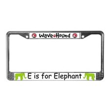 E is for Elephant License Plate Frame