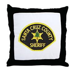 Santa Cruz Sheriff Throw Pillow