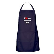 """Love My Inflatable Wife"" Apron (dark)"