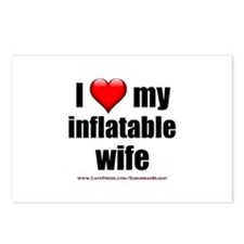 """Love My Inflatable Wife"" Postcards (Package of 8)"