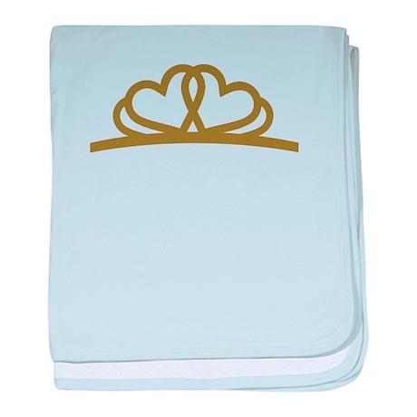 Golden Diadem Tiara baby blanket