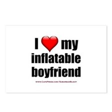 """Love My Inflatable Boyfriend"" Postcards (Package"
