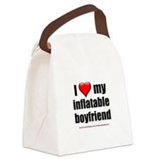 """Love My Inflatable Boyfriend"" Canvas Lunch Bag"