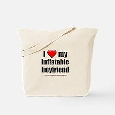 """Love My Inflatable Boyfriend"" Tote Bag"