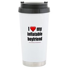 """Love My Inflatable Boyfriend"" Travel Mug"