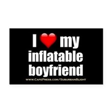 """""""Love My Inflatable Boyfriend"""" Rectangle Car Magne"""