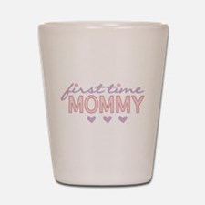 Girly First Time Mommy Shot Glass