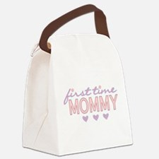 Girly First Time Mommy Canvas Lunch Bag