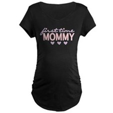 Girly First Time Mommy Maternity T-Shirt