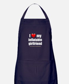"""Love My Inflatable Girlfriend"" Apron (dark)"