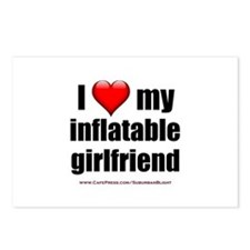 """""""Love My Inflatable Girlfriend"""" Postcards (Package"""