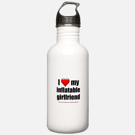 """Love My Inflatable Girlfriend"" Water Bottle"