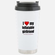 """Love My Inflatable Girlfriend"" Stainless Steel Tr"