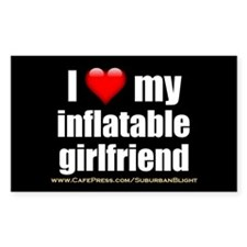 """""""Love My Inflatable Girlfriend"""" Decal"""