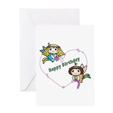 Happy Birthday Faeries Greeting Cards