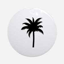 Palm tree Ornament (Round)