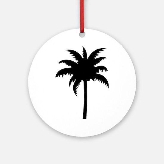 Palm tree Ornament (Round)