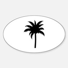 Palm tree Sticker (Oval)