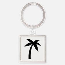 Palm icon symbol Square Keychain