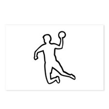 Handball player silhouette Postcards (Package of 8
