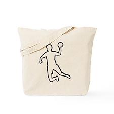 Handball player silhouette Tote Bag