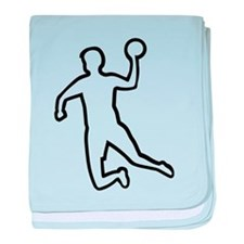 Handball player silhouette baby blanket