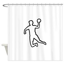 Handball player silhouette Shower Curtain