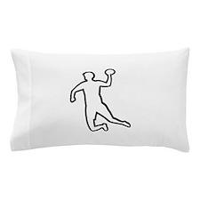 Handball player silhouette Pillow Case