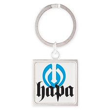 Hapa Logo Square Keychain