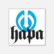 "Hapa Logo Square Sticker 3"" x 3"""