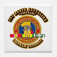 USMC - 1st Radio Battalion - w VN SVC Ribbon Tile