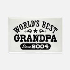 World's Best Grandpa Since 2004 Rectangle Magnet