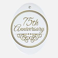 75th Anniversary Ornament (Oval)