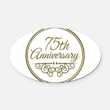 75th Anniversary Oval Car Magnet