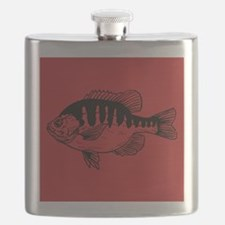Cranberry Red Fish Flask