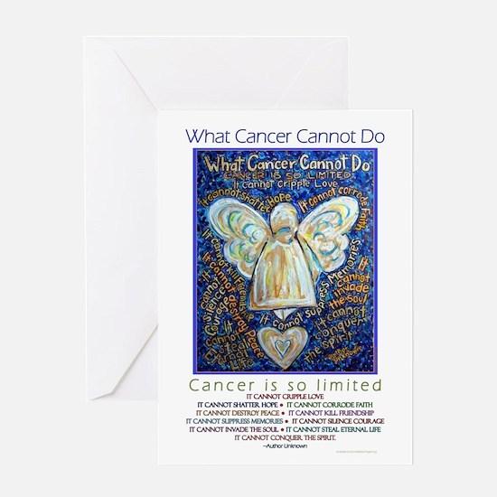 Blue & Gold Cancer Angel Greeting Card