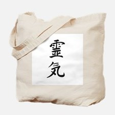Reiki in Japanese characters Tote Bag