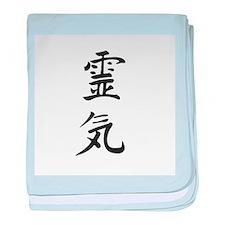 Reiki in Japanese characters baby blanket