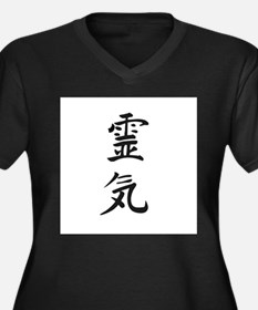 Reiki in Japanese characters Plus Size T-Shirt