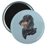 Longhaired Dachshund Magnet